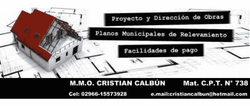 Maestro Mayor de obras Cristian Calbún